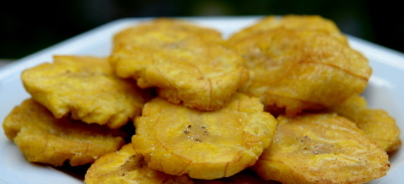 Twice Fried Green plantains