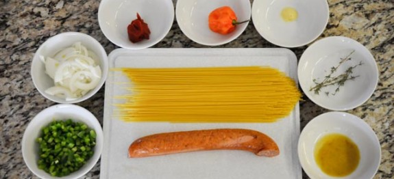 Haitian Spaghetti Ingredients from haitiancooking.com